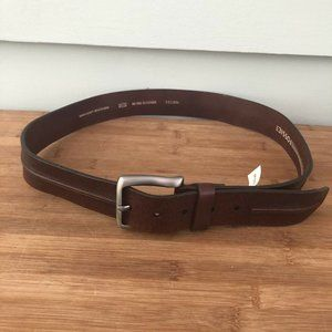 Fossil Men's Belt Leather Brown Size 36